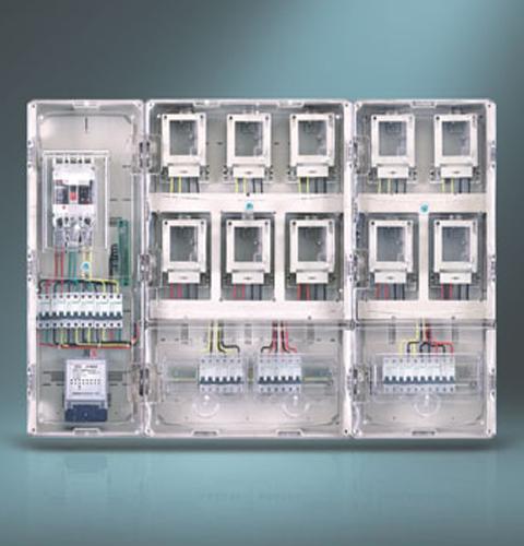 单相十位插卡式电表箱